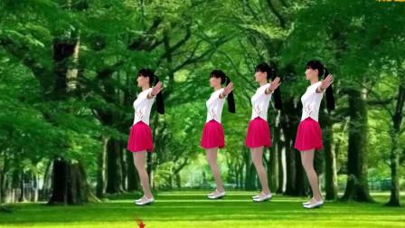 草原情歌广场舞《草原上美丽的姑娘》大气悠扬,32步简单欢快!