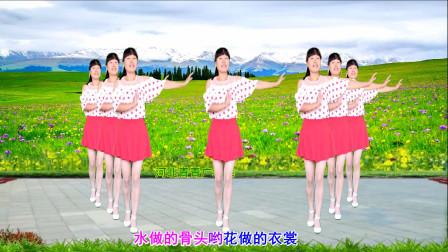 零基础简单32步广场舞花城姑娘 河北青青手把手教程