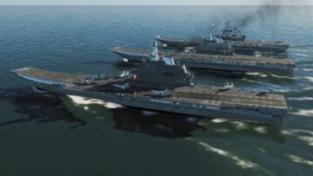 3艘辽宁舰搭载60架歼15战斗机反击,结果怎样?战争模拟