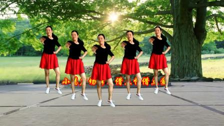 小慧广场舞《借点情借点爱》一生一世爱着你永不离开,时尚32步