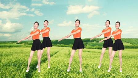 点击观看《新生代简单无基础广场舞 32步健身操玫瑰花开》