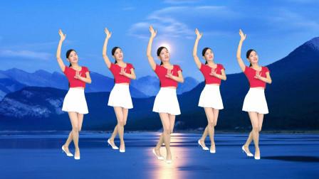 简单步子舞视频32步 新生代广场舞《梨花飞情人泪》