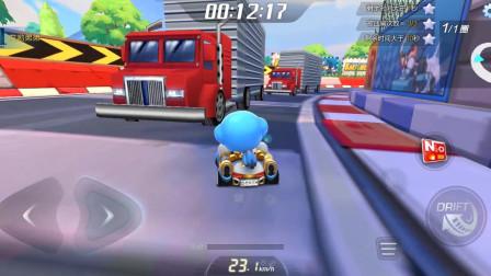 (跑跑卡丁車)壓路機+大卡車都來了!故事模式中有趣的地圖 13-3 13-4