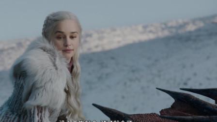 琼恩雪诺第一次陪龙母骑龙,权力的游戏(冰与火之歌)