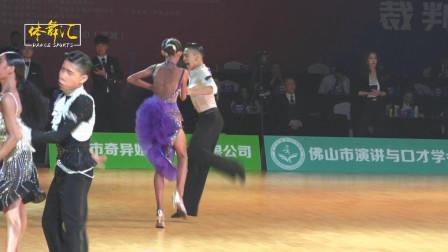 2019中国体育舞蹈国家少年Ⅱ队拉丁舞选手-陈禹铭&刘依婷-牛仔