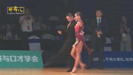 2019中国体育舞蹈国家少年Ⅱ队拉丁舞选手-仇靖哲&王晨竹-桑巴