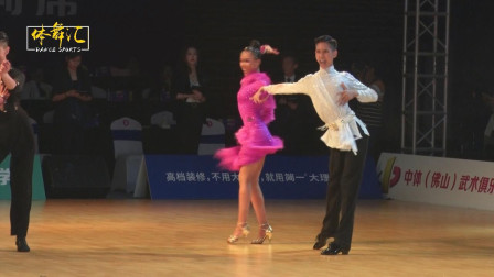 2019中国体育舞蹈国家少年Ⅱ队拉丁舞选手-左家辉&刘烜竹-桑巴