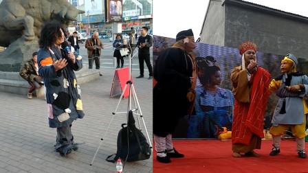 乞丐街头反串唱《女儿情》,女生都忍不住为他点赞!