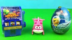 超级飞侠小爱拆糖果机 海底小纵队奇趣蛋 老虎机玩具