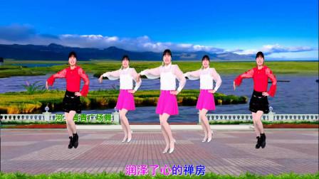 初学者最爱广场舞视频《拉萨夜雨》8步舞蹈一学就会