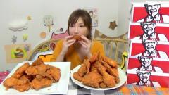 日本美女主播,为了礼物直播吃48桶全家桶,成就让人无语!