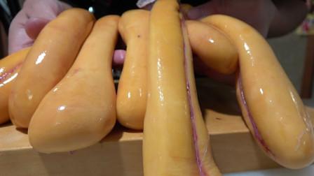 """日本奇葩美食""""乌鱼卵"""",长得就跟香肠一样,他们的吃法更是奇葩"""