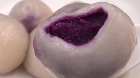 顺德美食:紫薯汤圆,在家做的料更足