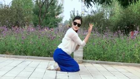 点击观看《简单无基础广场舞视频《白芍》青青世界边学边跳》