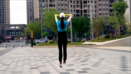 轻松好学小绳操视频《一起闯天涯》杨丽萍广场舞教程视频