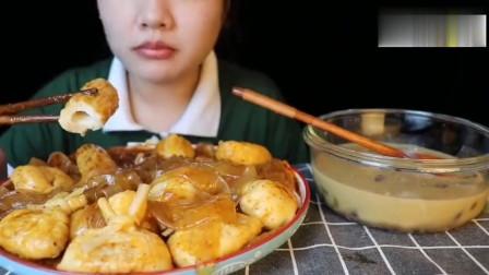 美女吃播宽粉、福袋、各种丸子、芋圆