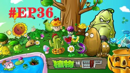 米小拉游戏:植物大战僵尸EP36 终于等来了铁器克星 磁力菇