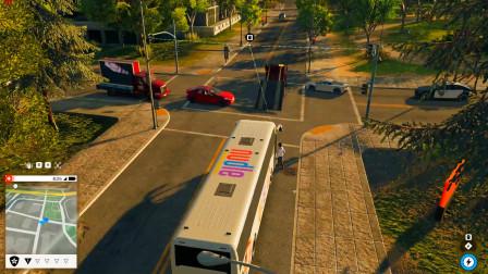 用我的卡车去追大巴车,没想到速度这么快