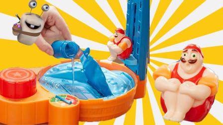 高台跳水 亲子互动游戏玩具