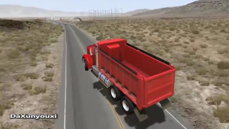 车祸模拟器:货车超速牵连跑车直接空中爆炸