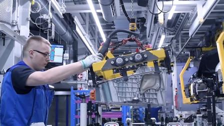 德国工厂实拍,宝马5系制造过程,长见识了