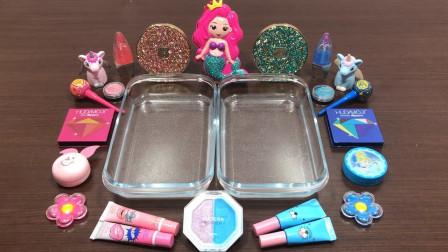 左边粉色,右边蓝色材料,混合做无硼砂泥,最后会是什么颜色?