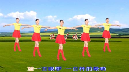 玫香广场舞《草原绿了》天籁之音舞姿优美