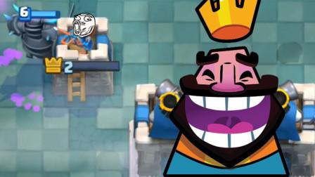 皇室战争搞笑集锦:这才是真正的用实力在守塔!