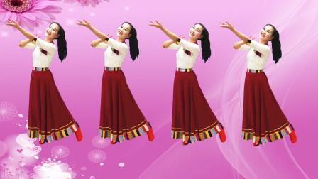 玖月学跳饶子龙健身舞视频《西海情歌》 附正背面分解教程