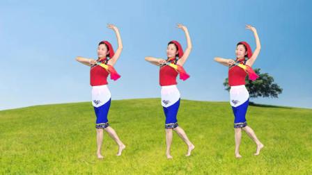 点击观看《《啊里隔趟栽》简单秧歌扇子舞》