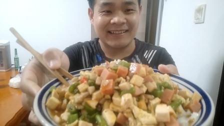 吃货福音,小伙自己做的捞面,食材简单,做法容易,最主要味道真棒