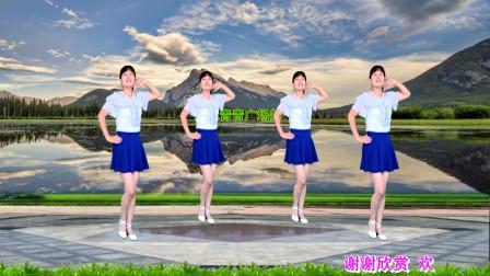 藏歌民谣广场舞《玛尼情歌》缘定三生,轻柔优美,32步附教学
