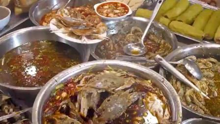 """舌尖上的美食:潮汕人的最爱!生腌海鲜现浸现吃,搭配夜粥是最好的""""美食毒药"""""""