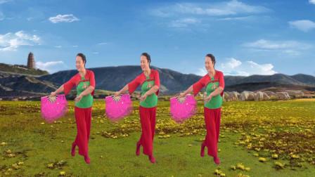 点击观看《姃姃广场舞《牡丹花和放羊娃》零基础扇子舞蹈视频》