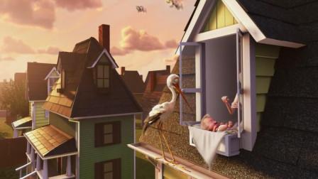 这个小镇的婴儿很特别,都是用天上的云做的,由仙鹤送给每户人家