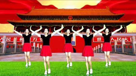 鹤塘紫儿广场舞《祖国你好》歌唱祖国舞蹈视频
