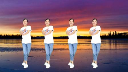 点击观看《简单易学32步健身操视频《想着你的好dj》 新生代广场舞》