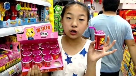 吃货姐姐分享美味果滋棒,糖果豆居然可以吸进嘴巴