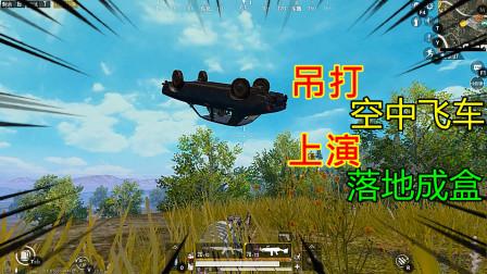 和平精英:大菠萝吊打空中飞车!决赛圈烟遁战,敌人神奇消失