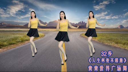 点击观看《网红流行32步广场舞《人生何处不相逢》庆祝祖国建国70周年》