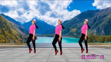 点击观看《中年妇女现代舞视频《玫瑰花开》 蓝天云广场舞教程分解》