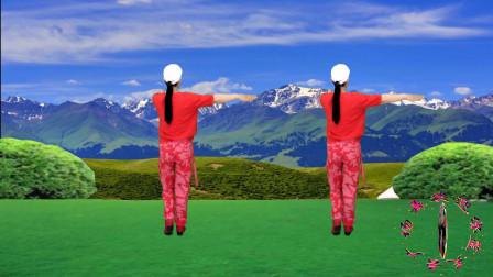 点击观看《蓝天云广场舞《草原嗨歌》反面健身舞舞蹈视频》