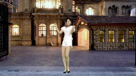 青青世界广场舞 中秋献舞简单时尚《姐姐妹妹造起来》