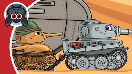 坦克世界动画:挠痒痒一般的开火!一个人就能击破沙漠城堡?