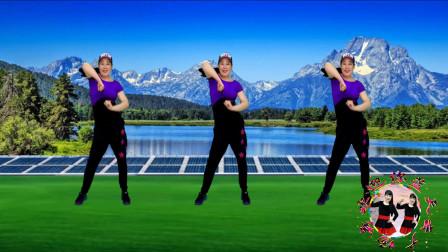 点击观看《简单强效腿部健身操让全世界知道我爱你舞蹈视频 蓝天云广场舞》