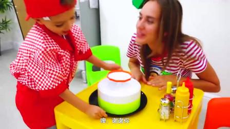 萌娃小可愛們的餐館開業啦!—萌娃:弟弟,我需要雞蛋和牛奶