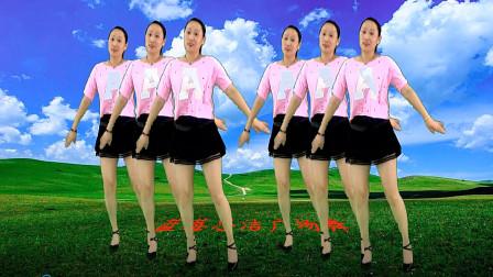闽南歌曲32步广场舞视频公虾米 蓝莓思洁广场舞