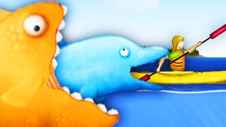 美味深海聯機版 小熙霸的金魚吃得比我海豚還大!