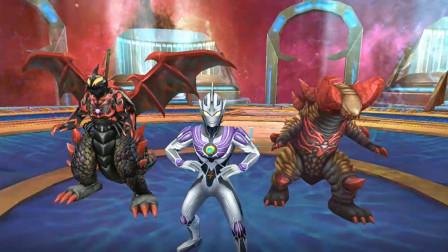奥特曼传奇英雄:神秘四奥雷杰多带领贝利亚军团能秒杀机器怪兽吗