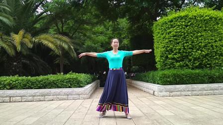 开远叶子广场舞《翻身农奴把歌唱》藏族舞